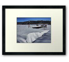 The Snow Drift Framed Print