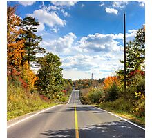 Autumn Road to Nowhere Photographic Print