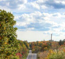 Autumn Road to Nowhere Sticker