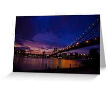 The Night just coming - NYC Greeting Card