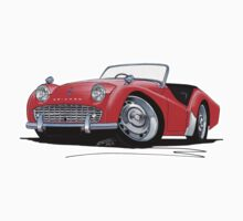 Triumph TR3A Red by Richard Yeomans