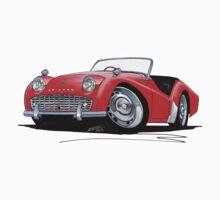 Triumph TR3A Red Kids Tee