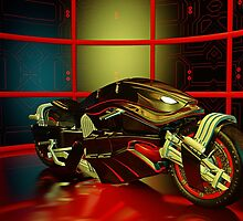 Futuristic Motorcycle Prototype by Liam Liberty