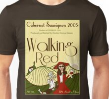 Walking Red: A Fine Wine Unisex T-Shirt