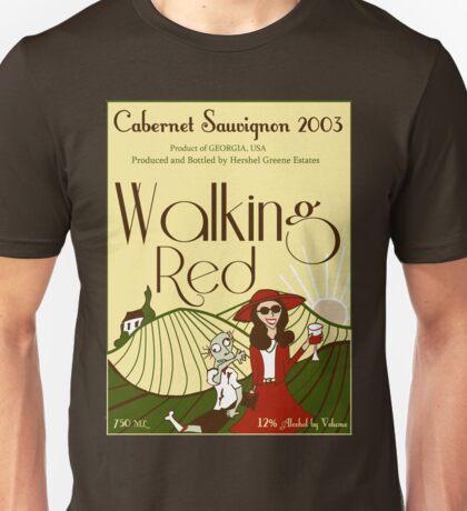Walking Red: A Fine Wine Unisex T-Shirt
