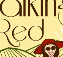 Walking Red: A Fine Wine Sticker