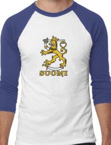 suomi finland lion Helsinki Men's Baseball ¾ T-Shirt