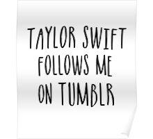 Taylor Follows Me On Tumblr Poster