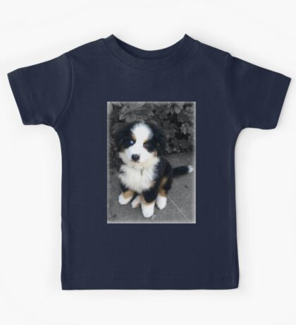 Cute Bernese Mountain Dog Puppy Kids Tee