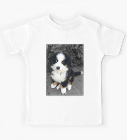 Cute Bernese Mountain Dog Puppy Kids Tee