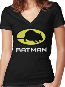 Ratman Women's Fitted V-Neck T-Shirt