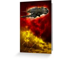 Starship On Earth Greeting Card