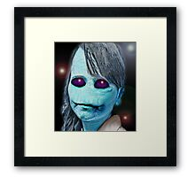 Alien child Framed Print