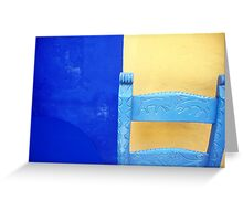 Wall, Table and Chair. Greeting Card