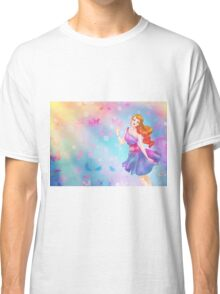 Colorful Butterfly Girl Classic T-Shirt