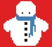 Cute Christmas Pixel Snowman Kids Clothes