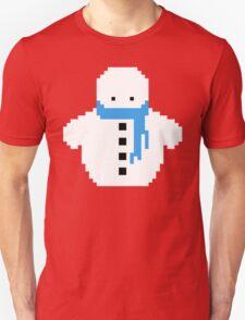 Cute Christmas Pixel Snowman Unisex T-Shirt