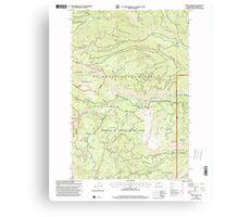 USGS Topo Map Washington State WA Meeks Table 242288 2000 24000 Canvas Print