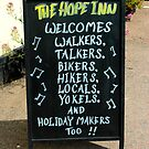 St.Margarets - The Hope Inn Pub's Greeting Sign by rsangsterkelly