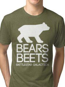 Bears. Beets. Battlestar Galactica. Tri-blend T-Shirt