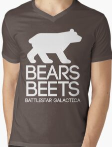 Bears. Beets. Battlestar Galactica. Mens V-Neck T-Shirt