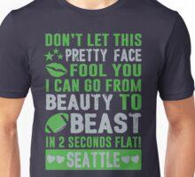 Beauty To Beast. Love Seattle Football. Unisex T-Shirt
