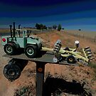 Olympic Highway Tractor Letterbox,Australia by muz2142