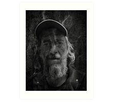 Rocker-Uwe b/w Art Print
