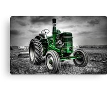 Tractor Green Canvas Print