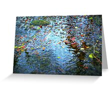 Jewels of the Fall on Water Greeting Card