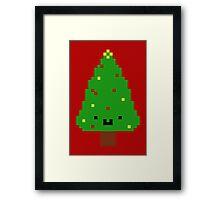 Cute Christmas Pixel Tree Framed Print