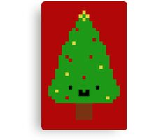 Cute Christmas Pixel Tree Canvas Print