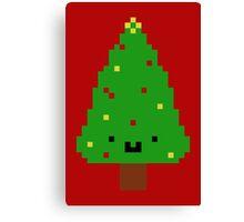 Cute Christmas Pixel Tree Canvas Print