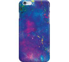 Blue splattery space iPhone Case/Skin