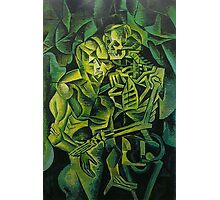 A Skeleton Embracing A Zombie Halloween Horror Photographic Print