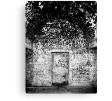 Cliffs of Dover - WWII Caves with Graffiti Canvas Print