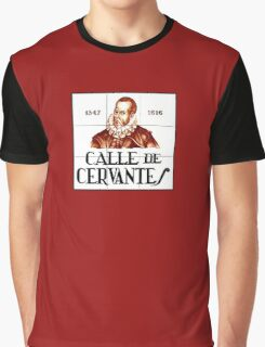 Calle de Cervantes, Madrid Street Sign, Spain Graphic T-Shirt