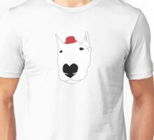 Dog in a bowler hat Unisex T-Shirt