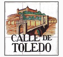 Calle de Toledo, Madrid Street Sign, Spain One Piece - Short Sleeve