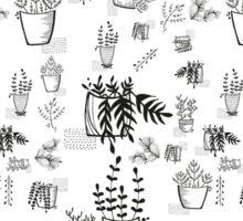 ::Potted Plants- White BG- pattern:: Sticker