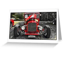 HOT DAY FOR A HOT ROD Greeting Card