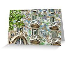 Gaudi Windows  Greeting Card