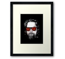 Minecraft Dude Big Lebowski Framed Print