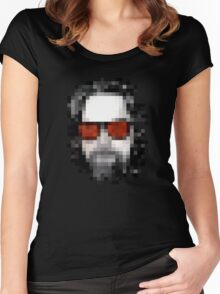Minecraft Dude Big Lebowski Women's Fitted Scoop T-Shirt
