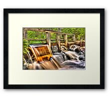 The honey water dam [HDR] Framed Print