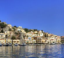 Across Symi Harbour by Tom Gomez