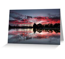 Fire In The Sky II Greeting Card