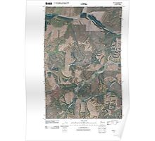 USGS Topo Map Washington State WA Dusty 20110406 TM Poster