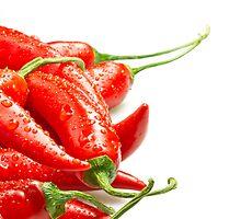 Fresh cili peppers by Proobjektyva