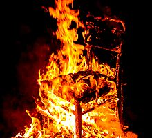 Burning chair  by Proobjektyva